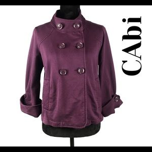 CAbi Purple Short Medium Peacoat